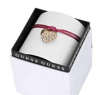 Guess €49 - My Heart in a Box Pink Cord Crush Bracelet http://bit.ly/ZoL0iU