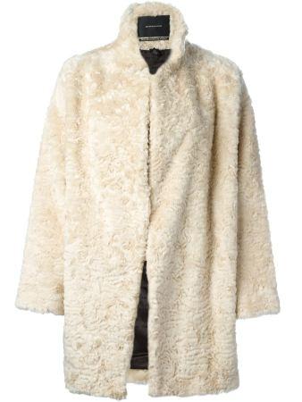 Maison Scotch €317 - Faux Fur Overcoat http://bit.ly/1HCFMlO