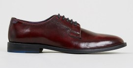 Topman €68 - Red Delta Postman Burgundy Hishine Leather Shoes http://bit.ly/1r0cy5V