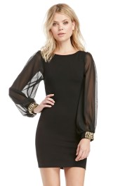 Dailylook €40 - Bejeweled Cuffs Bodycon Dress http://bit.ly/1IQsMJK