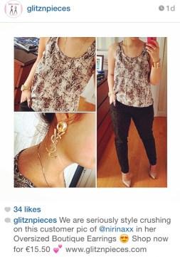 Featured on Glitz N Pieces' Instagram page