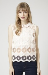 Topshop €52.32/£38 - Lace Front Shell Top http://bit.ly/1AheGJv