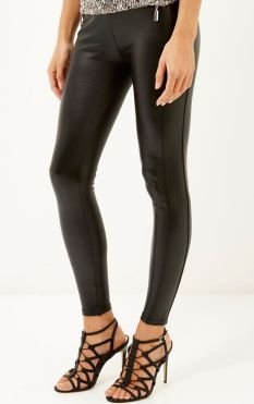 River Island €40 - Black coated high waisted leggings http://bit.ly/1MkOHgP