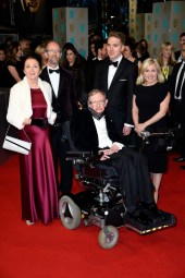 Jane Wilde Hawking & Stephen Hawking and family