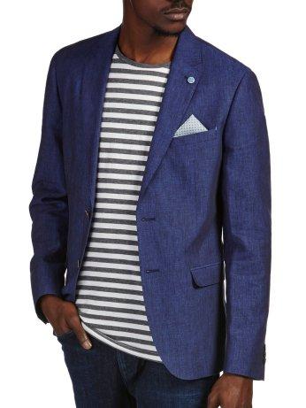 Denim Blue Textured Blazer €80 http://bit.ly/1PYwf9R