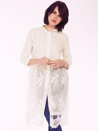 Dahlia €81.47/£58 - Julia Collar Shirt Dress with Lace Skirt Overlay http://bit.ly/1MDm4WH