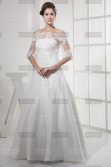 Fanny Crown €369 - Sublime Off-the-shoulder Long Ivory Wedding Dress http://bit.ly/1I07Nmg