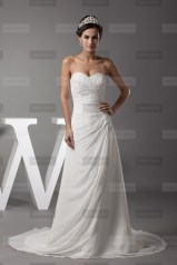 Fanny Crown €389 - Amazing Sweetheart Long Ivory Wedding Dress http://bit.ly/1xyHIV8