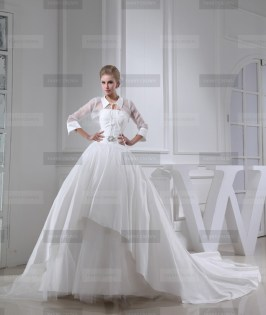 Fanny Crown €449 - Simple High neck Long White Wedding Dress http://bit.ly/1FE0ml7