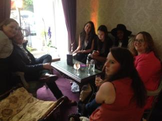 Our group of bloggers at 10 St. Stephen's Green