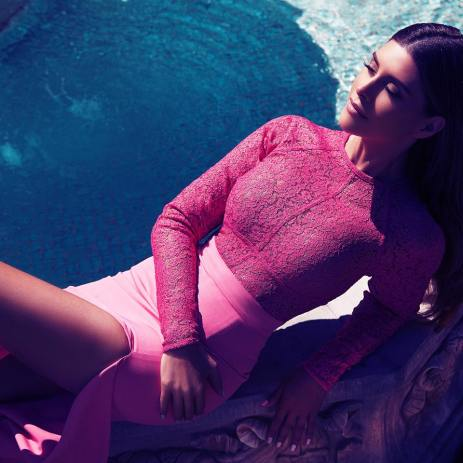 House of CB €205 - Anzia Fuschia Lace & Crepe Long Dress http://bit.ly/1jTKofC