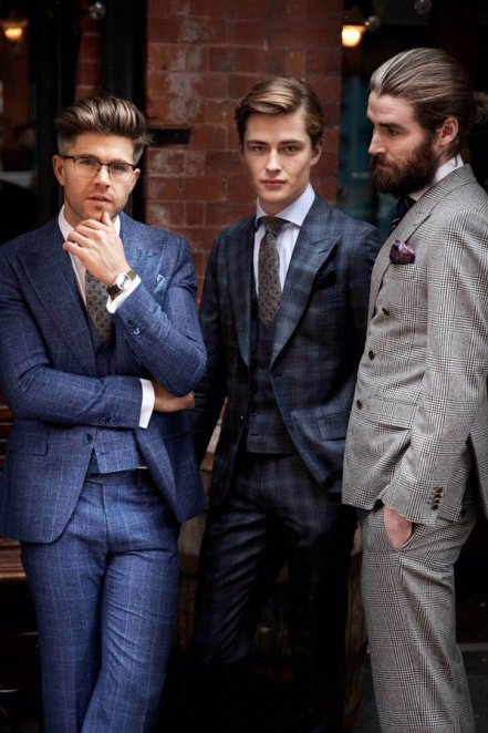 Louis Copeland €899 - Darren Kennedy Collection The Henry Suit (blue) http://bit.ly/1QgYAgO