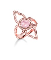 Thomas Sabo €279 - Rose Gold Zirconia & Pink Stone Ring http://bit.ly/1LYfclq
