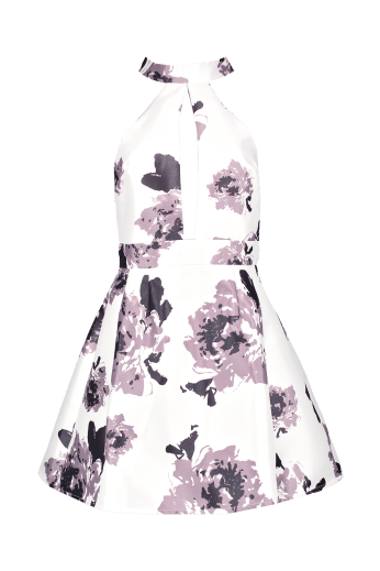 Boohoo €30 - Sarah High Neck Satin Floral Skater Dress http://www.boohoo.com/new-in/sarah-high-neck-satin-floral-skater-dress/invt/dzz85922