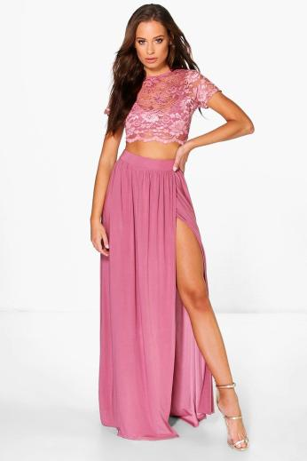 Boohoo €34 - Keira Lace Crop Bralet And Maxi Skirt Co-ord http://bit.ly/2dZI8SQ