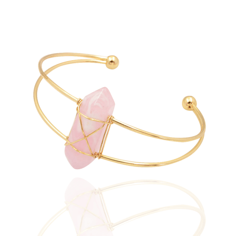 Coconut Lane £12.50 - Rose Crystal Bangle http://bit.ly/2epaaHJ