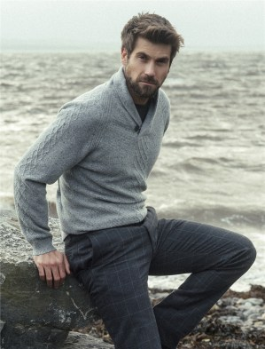 Magee 1866, €199 - Errigal Cashmere Donegal Fleck Sweater https://www.magee1866.com/en/150th-Collection---Errigal-Cashmere-Donegal-Fleck-Sweater/m-9782.aspx