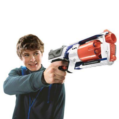 Smyths Toys, €11.99 - NERF N-Strike Elite Strongarm http://bit.ly/2fKZ6mK