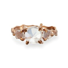 Chupi €249 - Rose Gold Tinkle in the Wild Rose Quartz Ring https://www.chupi.com/products/tiny-twinkle-in-the-wild-rose-quartz-drop-ring-in-rose-gold