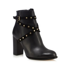 Faith €55 - Black Billie High Studded Ankle Boots http://bit.ly/2lUZZQK