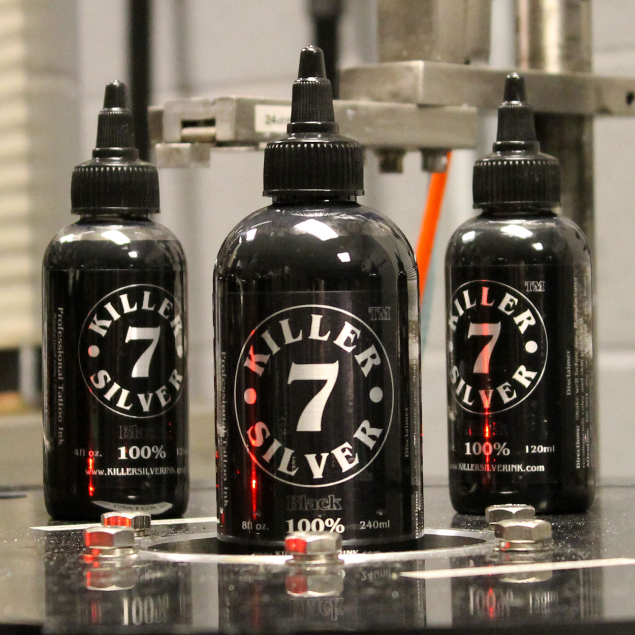 Killer Silver-Black 100%-Tattoo Ink-Pitch Black Perfection