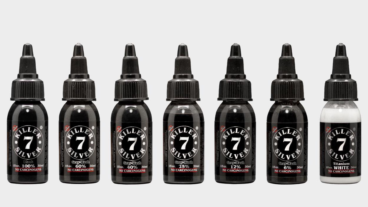 Ultimate Gray-Wash Set - 7 Bottle 1oz Set - 7 Deadly Shades - Killer Silver
