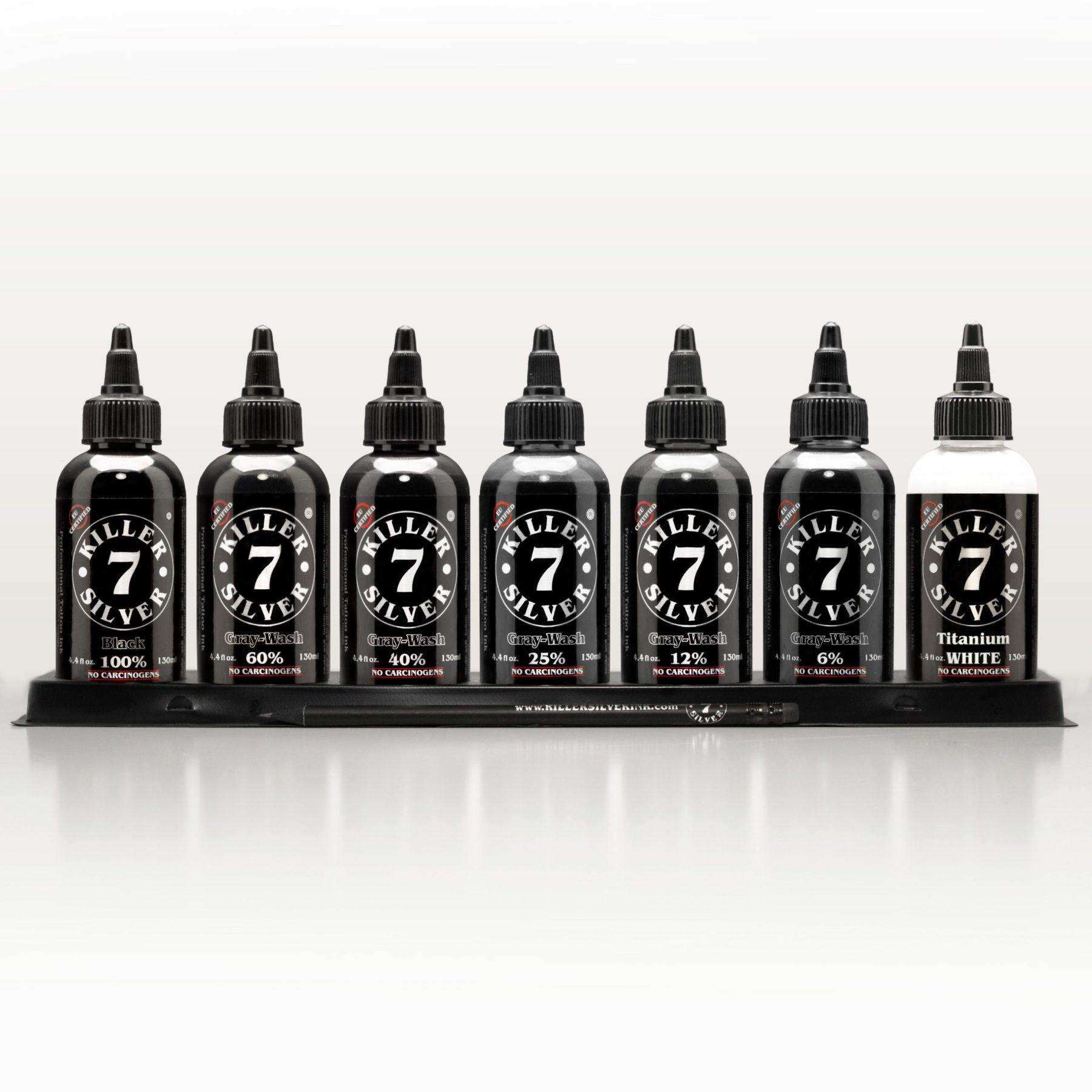 Ultimate Gray-Wash Set - 7 deadly shades - 7 bottle set - 4.4 oz - Killer Silver