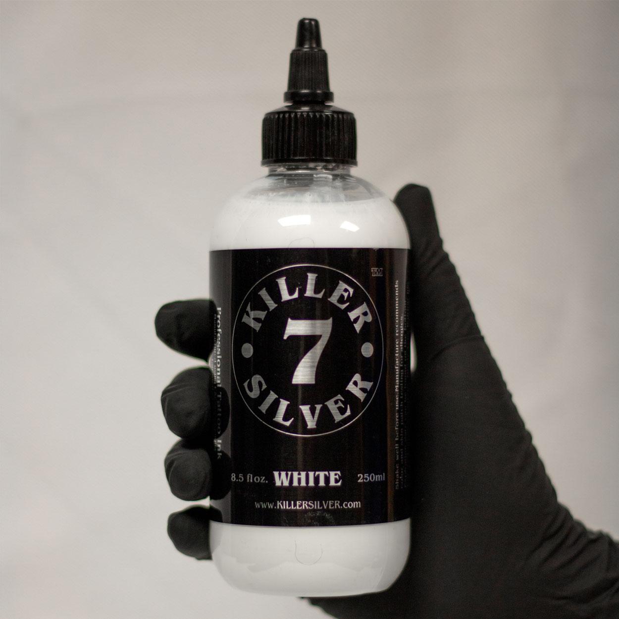 Titanium White-Professional Tattoo Ink-8 oz-Killer Silver