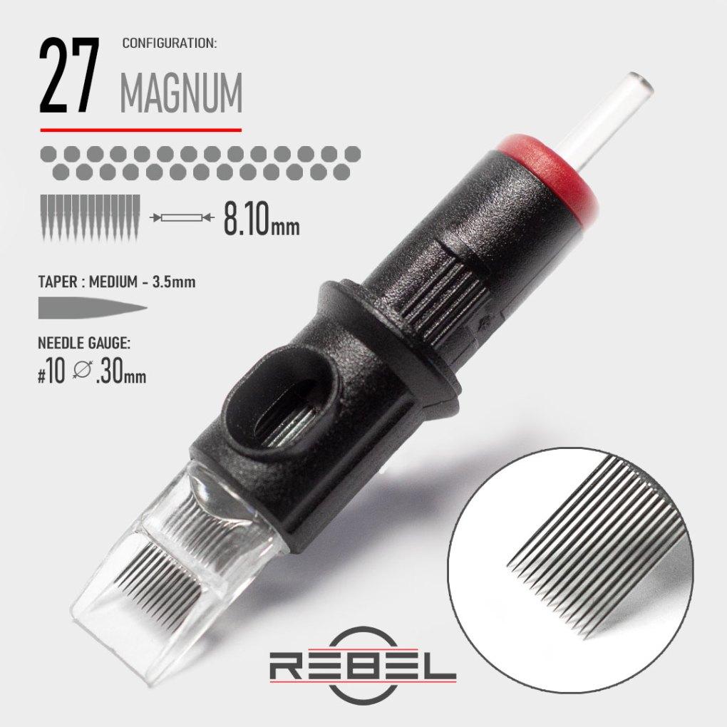 Magnum 27-REBEL-Precision Tattoo Cartridge-Tattoo Needle-Killer Silver