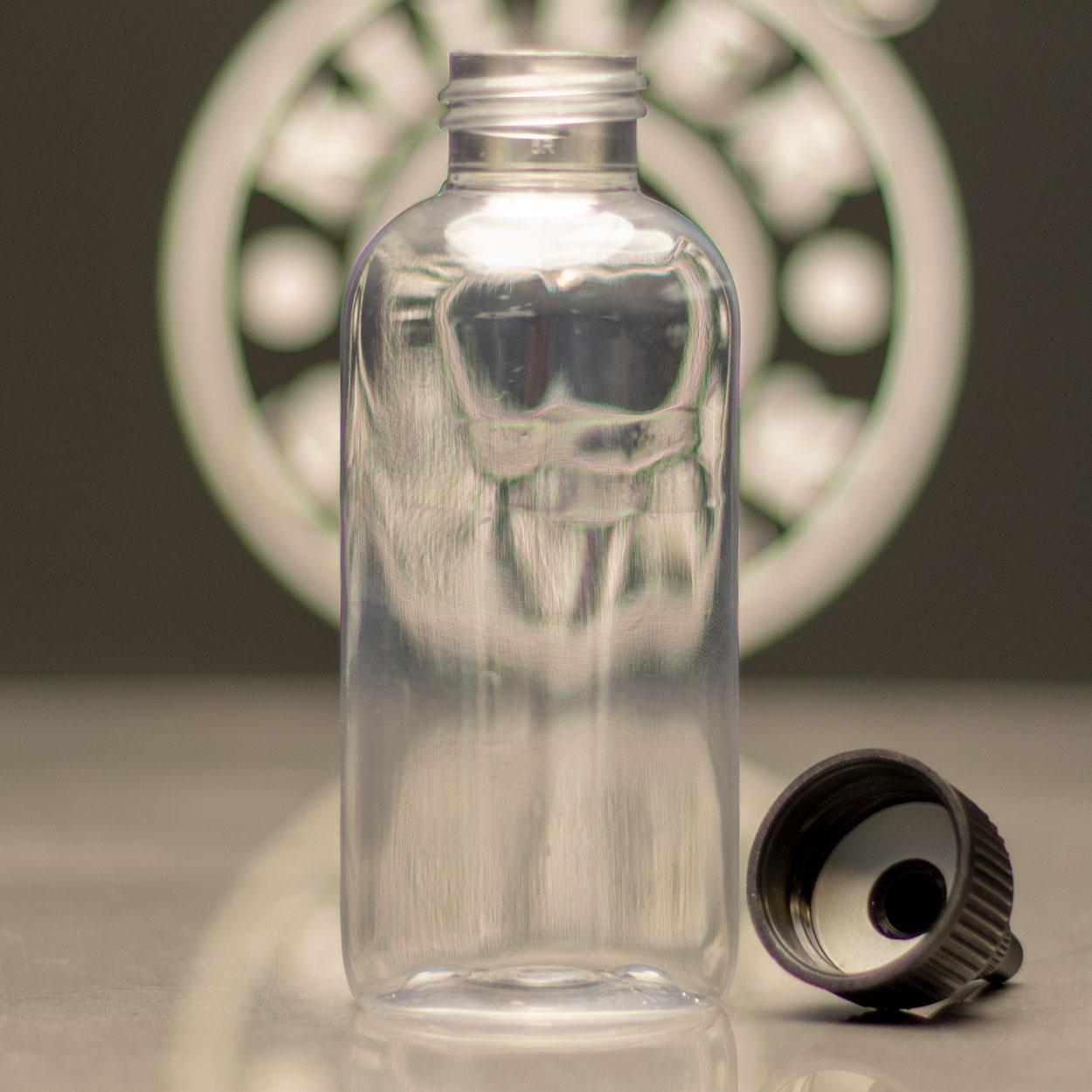Empty Bottle - Boston Round - 4 oz - Killer Silver