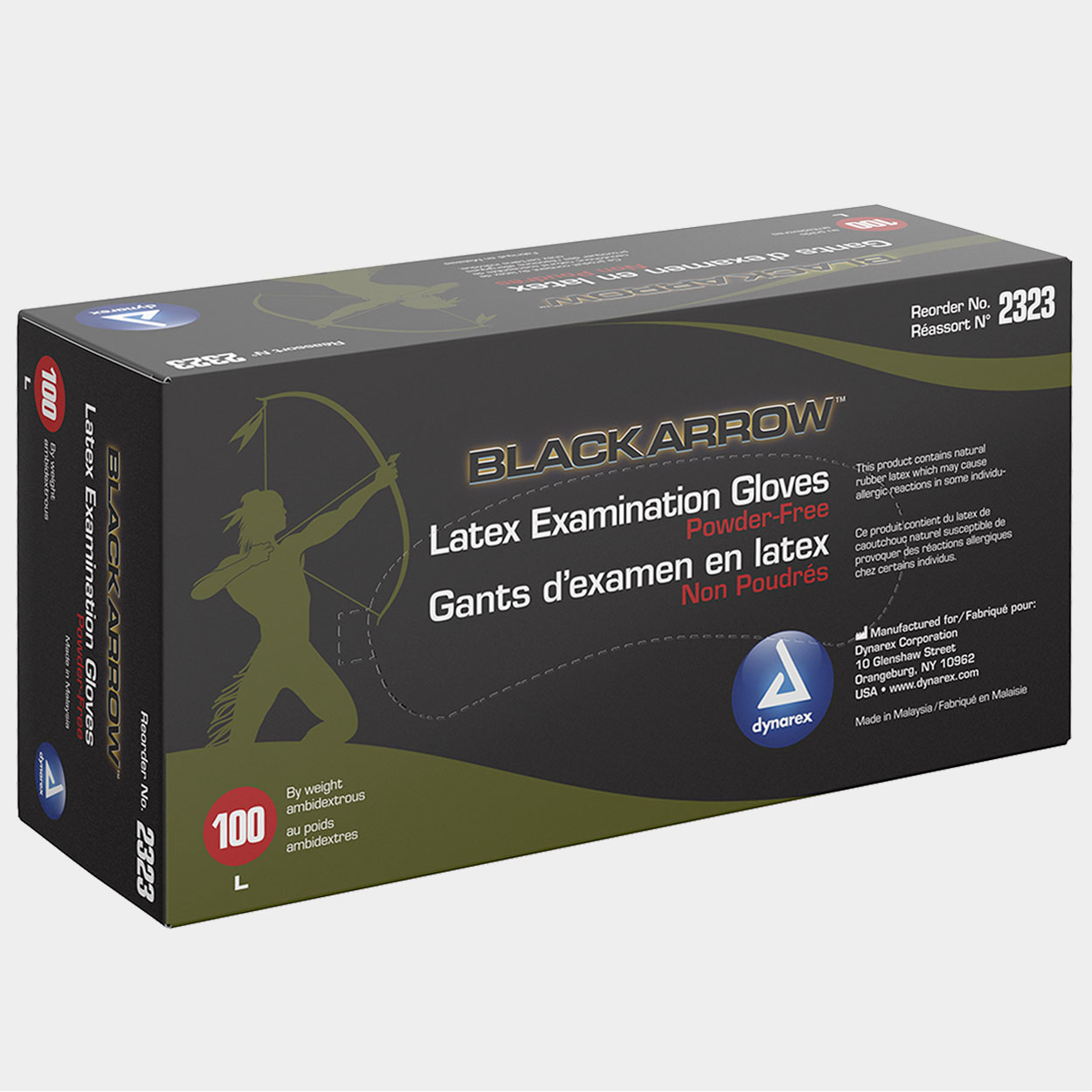 Black Arrow Latex examination gloves - Medical supply - Killer Silver