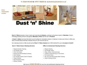 www.dustnshine-cleaners-dorset.co.uk
