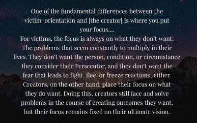 Creators . . . place their focus on what they want…