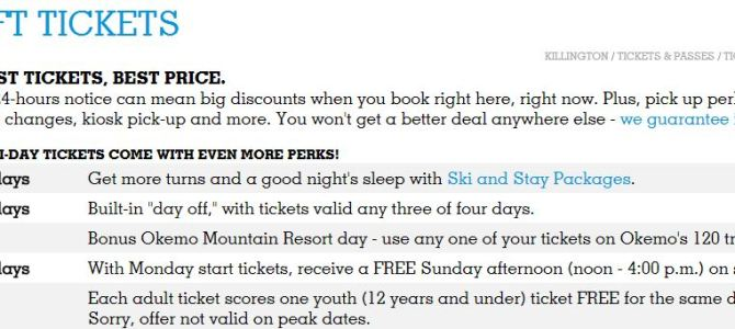 Killington Lift Tickets link