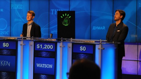 IBM's Watson Computer System Plays Jeopardy! in a Practice Round
