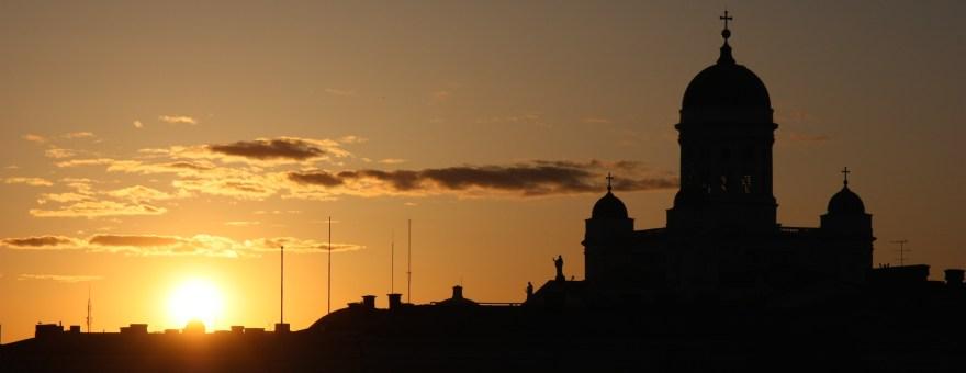 Coucher de soleil sur Helsinki