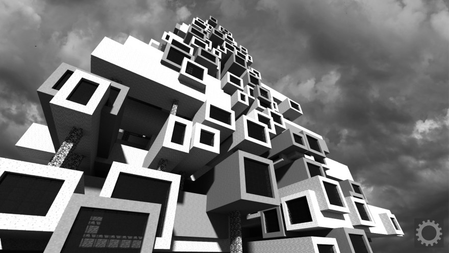 Brutalism has found a second life in Minecraft - Kill Screen