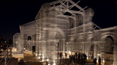 Wireframe church