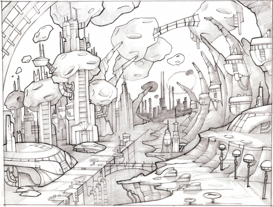 ratchet and clank concept art