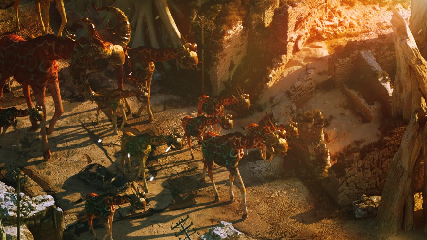 stare wildly at the mutated giraffes of a game set in far future africa