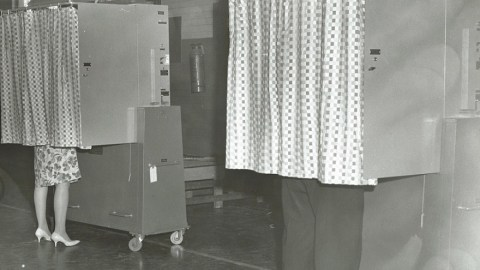 voting booths 1966