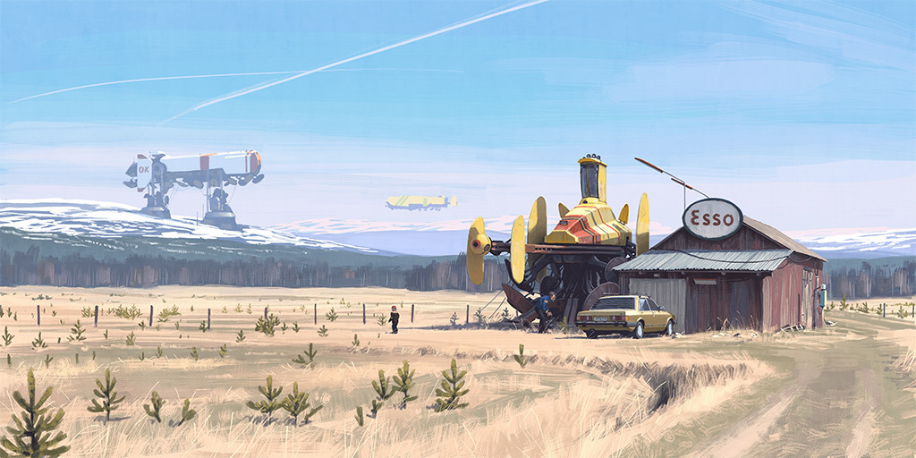 One of Simon Stalenhag's digital paintings