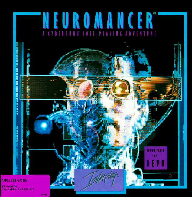 The 1988 game adaptation of Neuromancer
