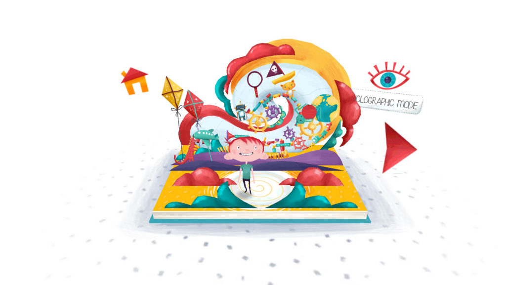 A glimpse of the colorful, papercraft world of Peronio's Pop-Up Book.