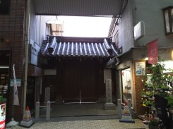 A temple in the middle of the shopping arcade