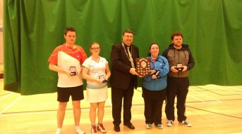 17 January 2016 Congratulations to Natalie and Greville who won the Graduate mixed.
