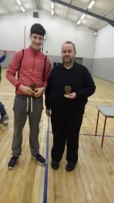 Oisin and Michael were runners up in the Men's doubles.