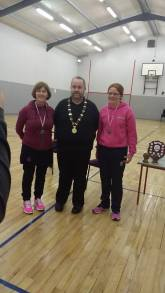 Carol and Fiona were runners up in the ladies doubles plate final.