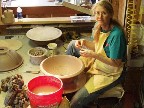 Friend and Apprentice Nancy Werth — Sink Detailing