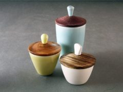 Wood Lid Cup Set
